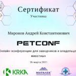 Сертификат Миронова А. К.